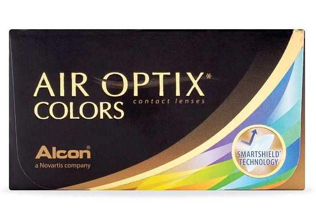 Έγχρωμοι μηνιαίοι φακοί επαφής σιλικόνης υδρογέλης Air Optix Colors (2 φακοί)