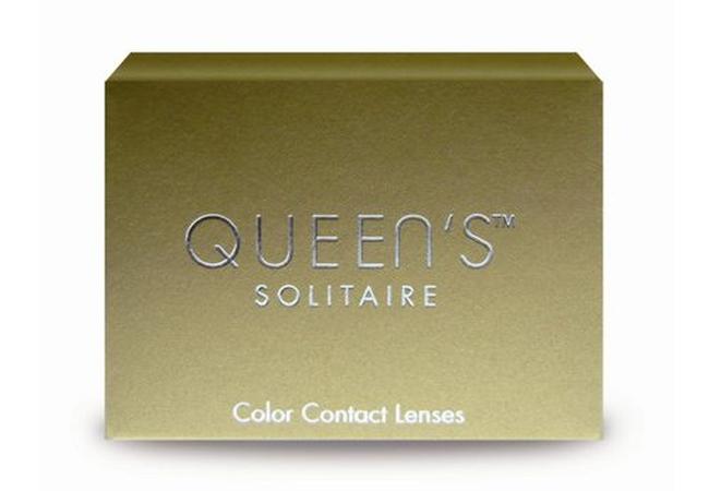 Έγχρωμοι φακοί επαφής Queen`s solitaire τριμηνιαίας αντικατάστασης (2 φακοί)