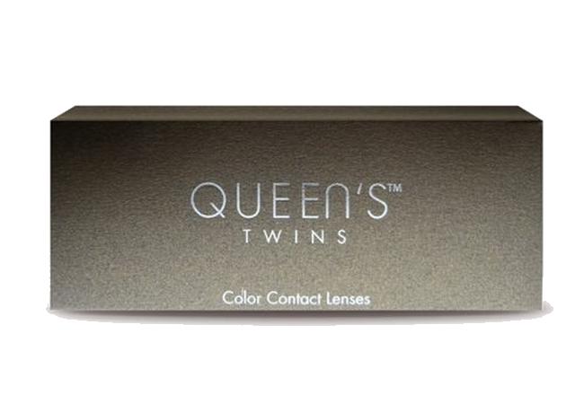 Έγχρωμοι φακοί επαφής Queen`s twins μηνιαίας αντικατάστασης (2 φακοί)